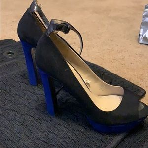 Black and Blue heels